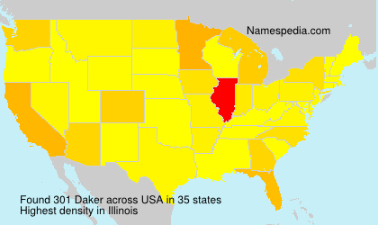 Surname Daker in USA