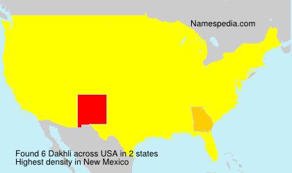 Surname Dakhli in USA