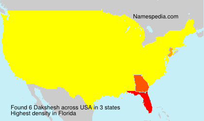 Surname Dakshesh in USA