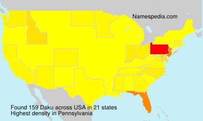 Familiennamen Daku - USA