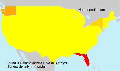 Surname Dalacio in USA