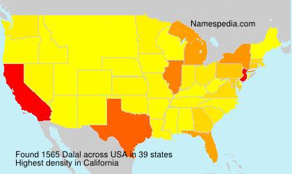 Surname Dalal in USA