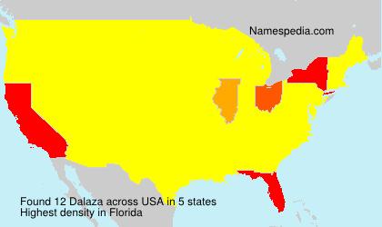 Surname Dalaza in USA