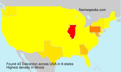 Surname Dalcanton in USA