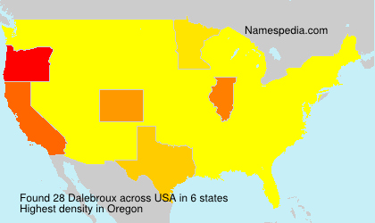Surname Dalebroux in USA