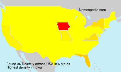 Surname Dalecky in USA