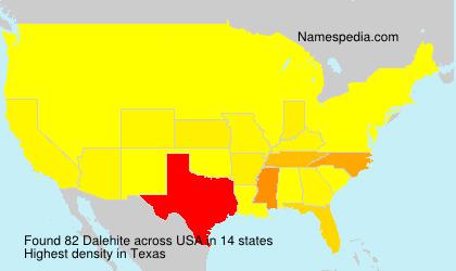 Surname Dalehite in USA