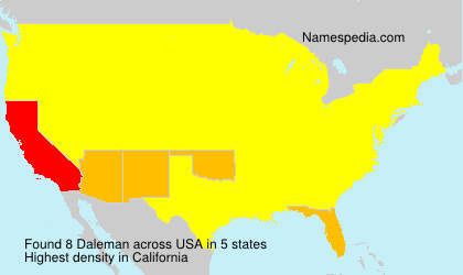 Surname Daleman in USA