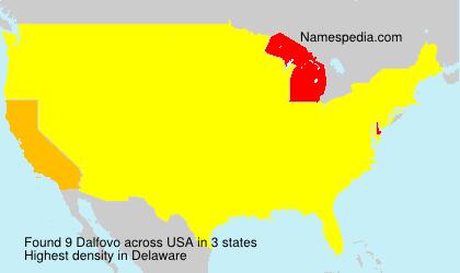 Surname Dalfovo in USA