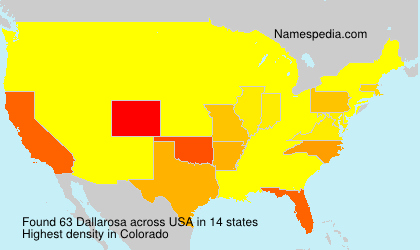 Surname Dallarosa in USA
