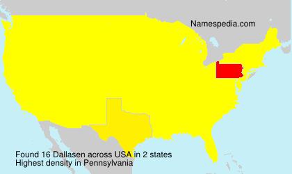 Familiennamen Dallasen - USA