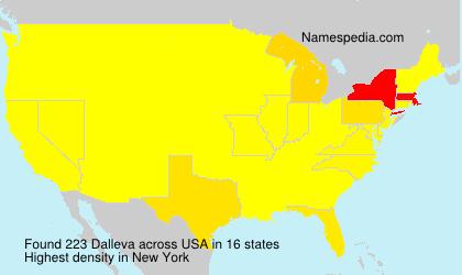 Surname Dalleva in USA