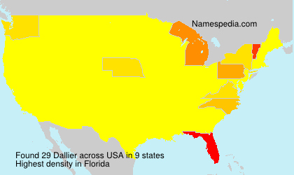 Surname Dallier in USA