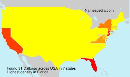 Surname Dallorso in USA