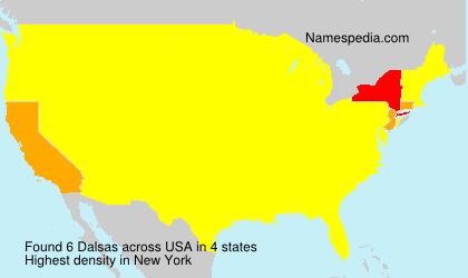 Surname Dalsas in USA