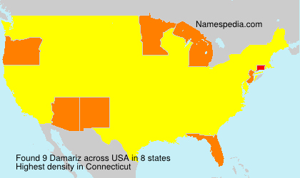 Surname Damariz in USA