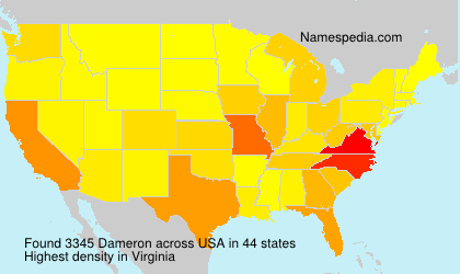 Surname Dameron in USA