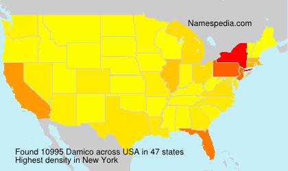 Familiennamen Damico - USA