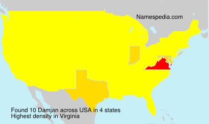 Surname Damjan in USA