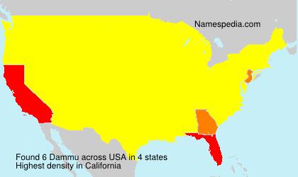 Surname Dammu in USA