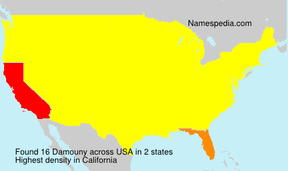 Surname Damouny in USA