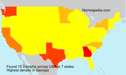 Surname Dampha in USA
