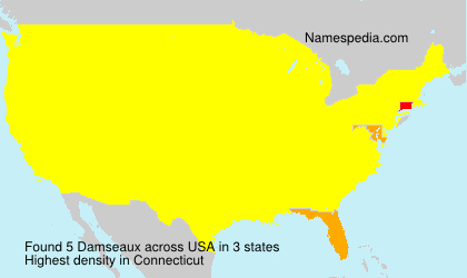 Surname Damseaux in USA