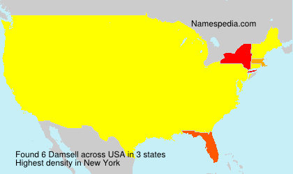Surname Damsell in USA