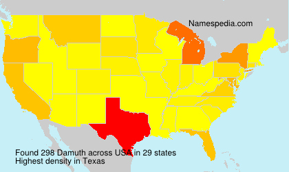 Surname Damuth in USA
