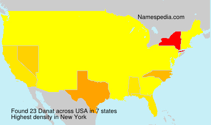 Surname Danat in USA