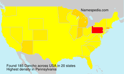 Familiennamen Dancho - USA