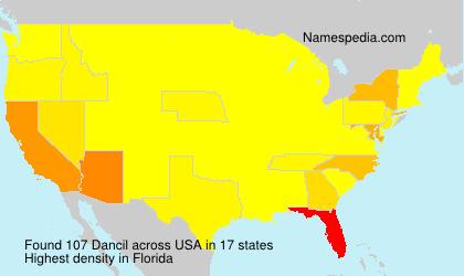 Surname Dancil in USA
