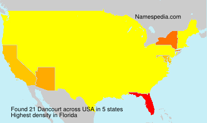 Surname Dancourt in USA