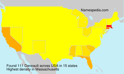 Surname Daneault in USA