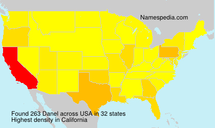 Surname Danel in USA