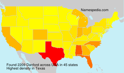 Familiennamen Danford - USA