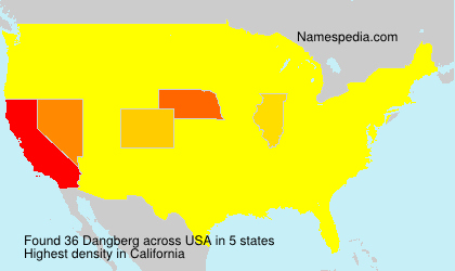 Surname Dangberg in USA