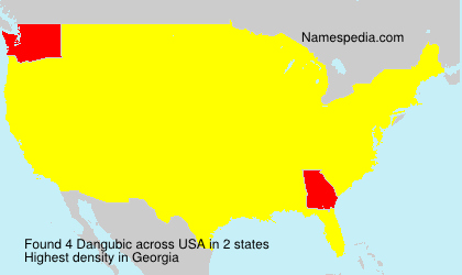 Surname Dangubic in USA