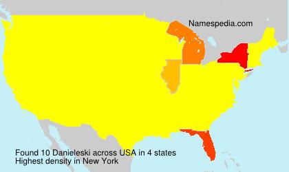 Surname Danieleski in USA