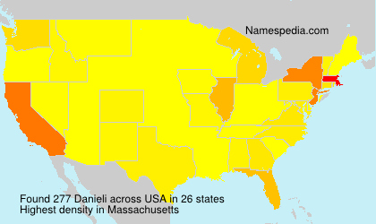Surname Danieli in USA