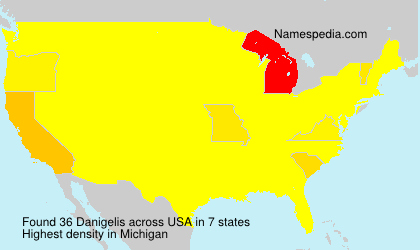 Surname Danigelis in USA