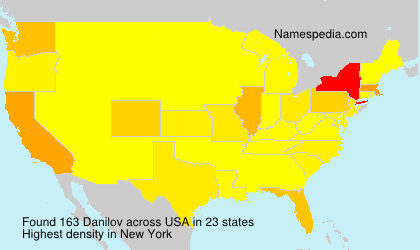 Familiennamen Danilov - USA