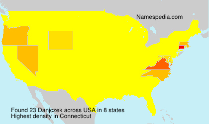Surname Danjczek in USA