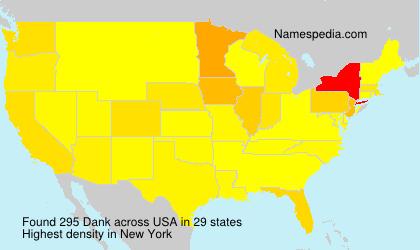 Surname Dank in USA