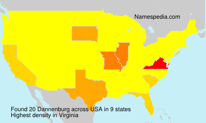 Surname Dannenburg in USA