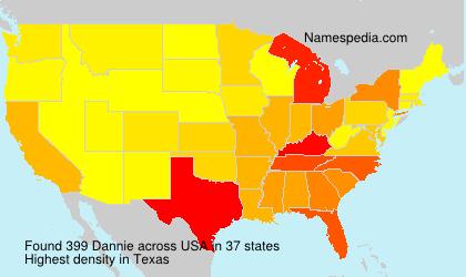 Surname Dannie in USA