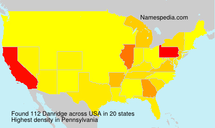 Surname Danridge in USA