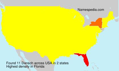 Familiennamen Dansoh - USA