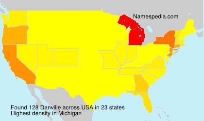 Surname Danville in USA