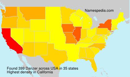 Surname Danzer in USA